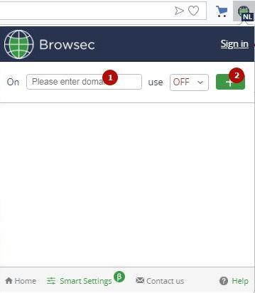 автоматическое отключение browsec