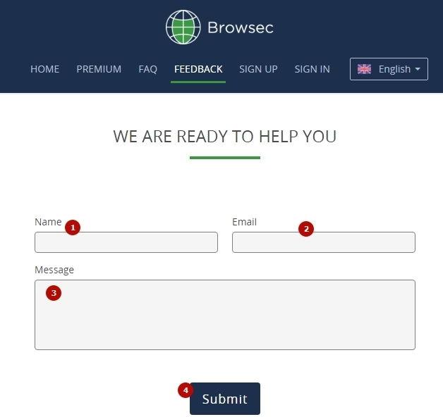 связь с командой browsec
